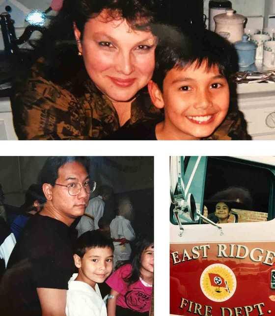 Images of Joda growing up in East Ridge.